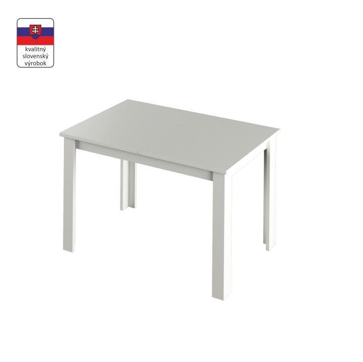 TEMPO KONDELA Jedálenský stôl, biela, LAURENCI