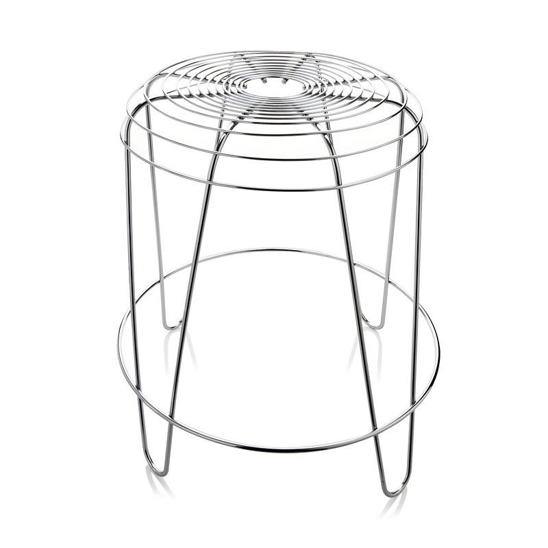 Stolička A Tempo 45 cm, strieborná,