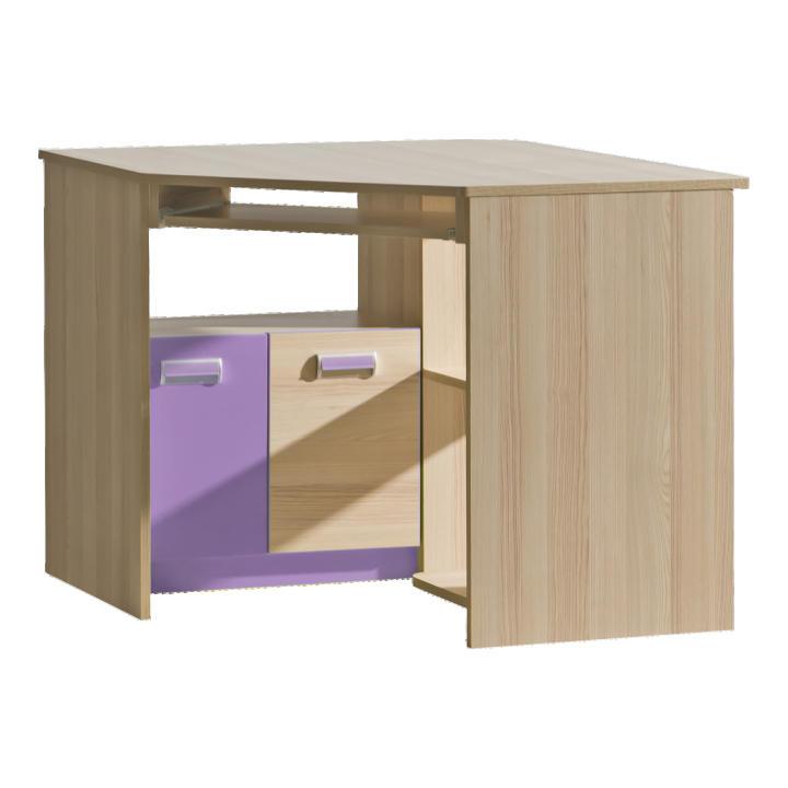 Rohový PC stolík L11 (fialová)
