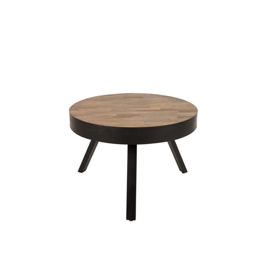 Konferenčný stolík z recyklovaného teakového dreva White Label Suri, Ø 58 cm