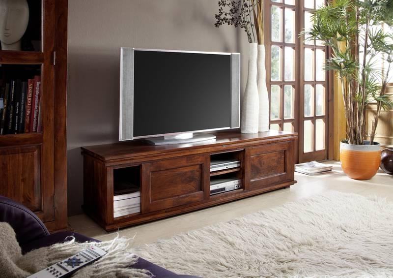 Bighome - CAMBRIDGE  Koloniálny TV stolík, masívne akáciové drevo