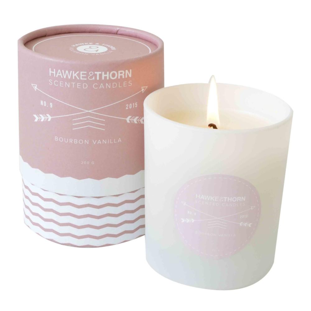 Vonná sviečka Hawke&Thorn, bourbonská vanilka
