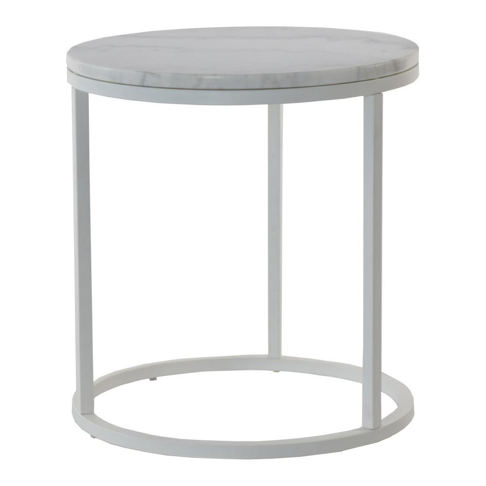 Mramorový odkladací stolík so sivou konštrukciou RGE Accent, ⌀ 50 cm