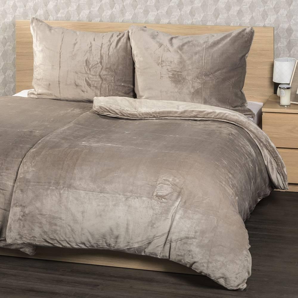 4home obliečky mikroflanel sivá, 160 x 200 cm, 2 ks 70 x 80 cm