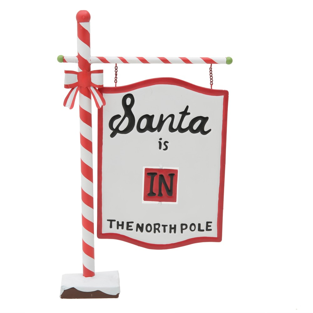 Vianočná dekorácia v tvare cedule InArt Santa Sign