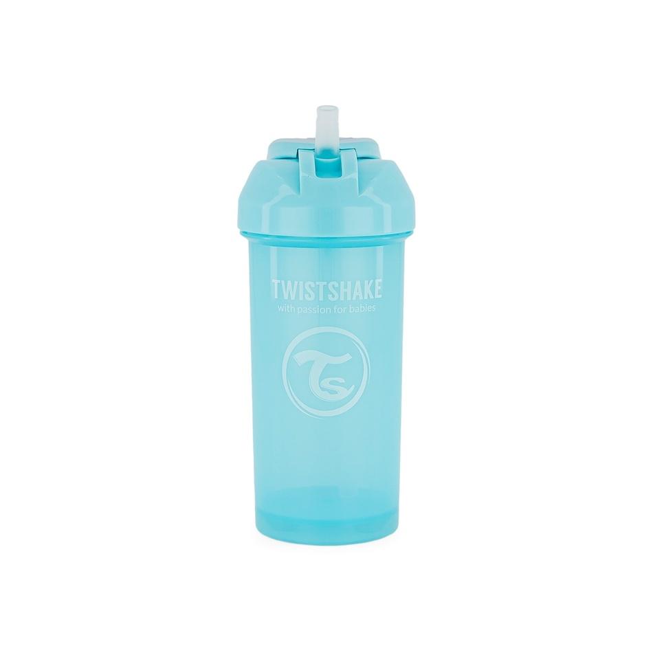 Twistshake Netečúca fľaša so slamkou 360 ml 6 m+, modrá