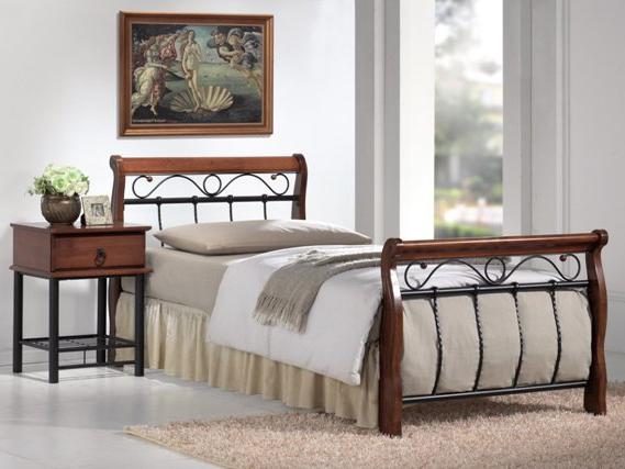 Jednolôžková posteľ 90 cm Venecja A (s roštom)