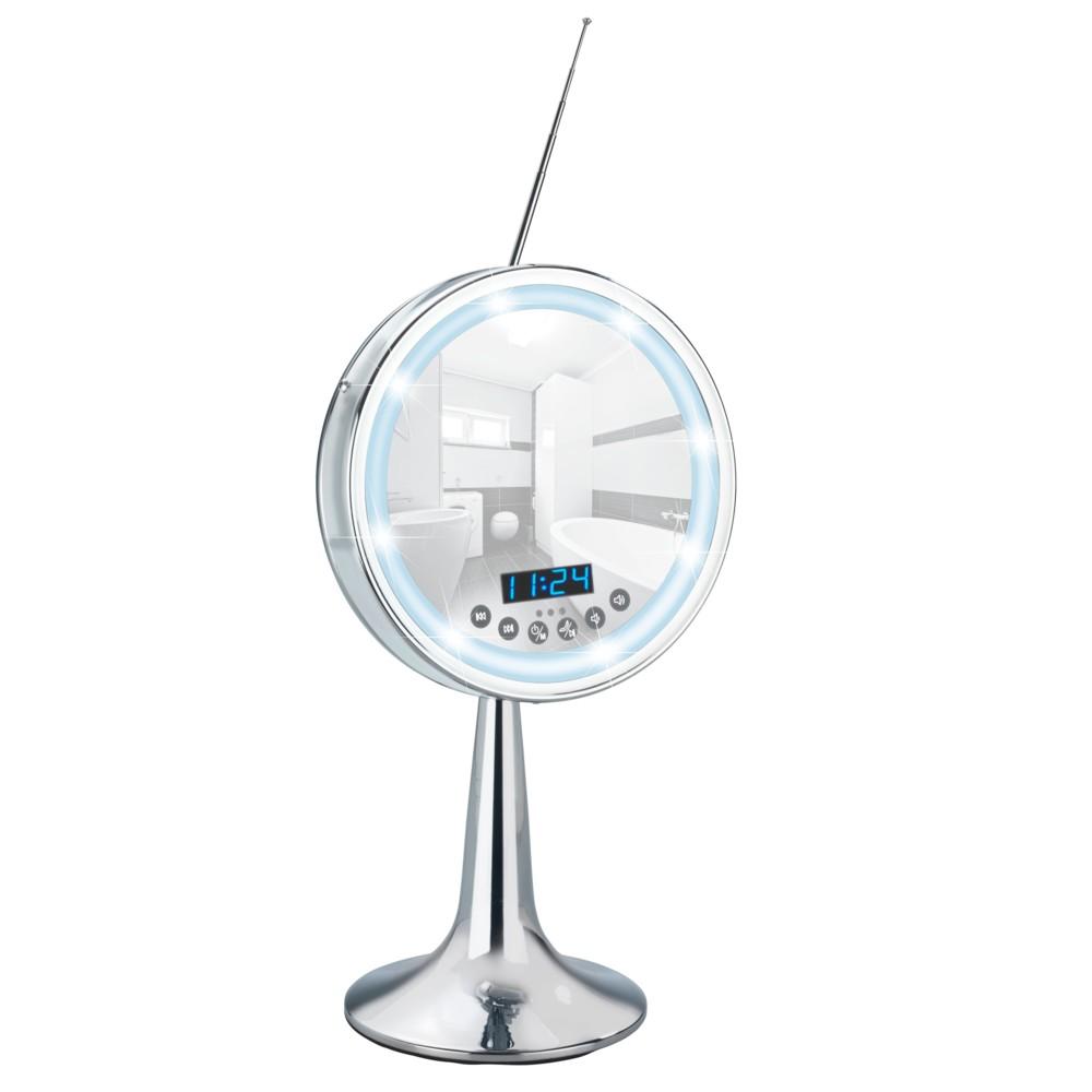 Kozmetické LED zrkadlo s rádiom Wenko Imperial