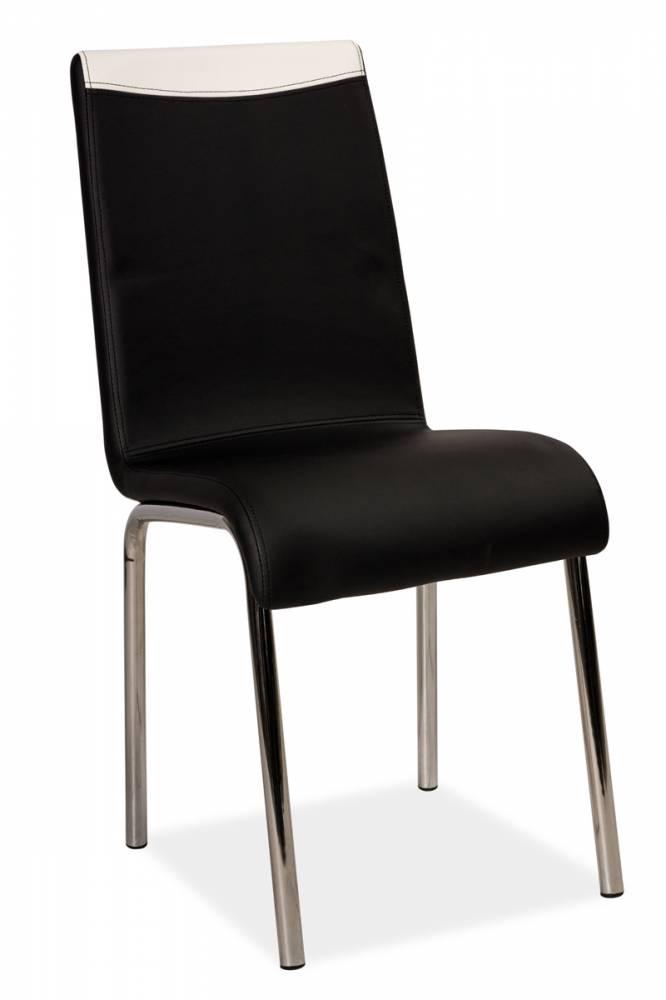 Jedálenská stolička HK-161, čierna/biela