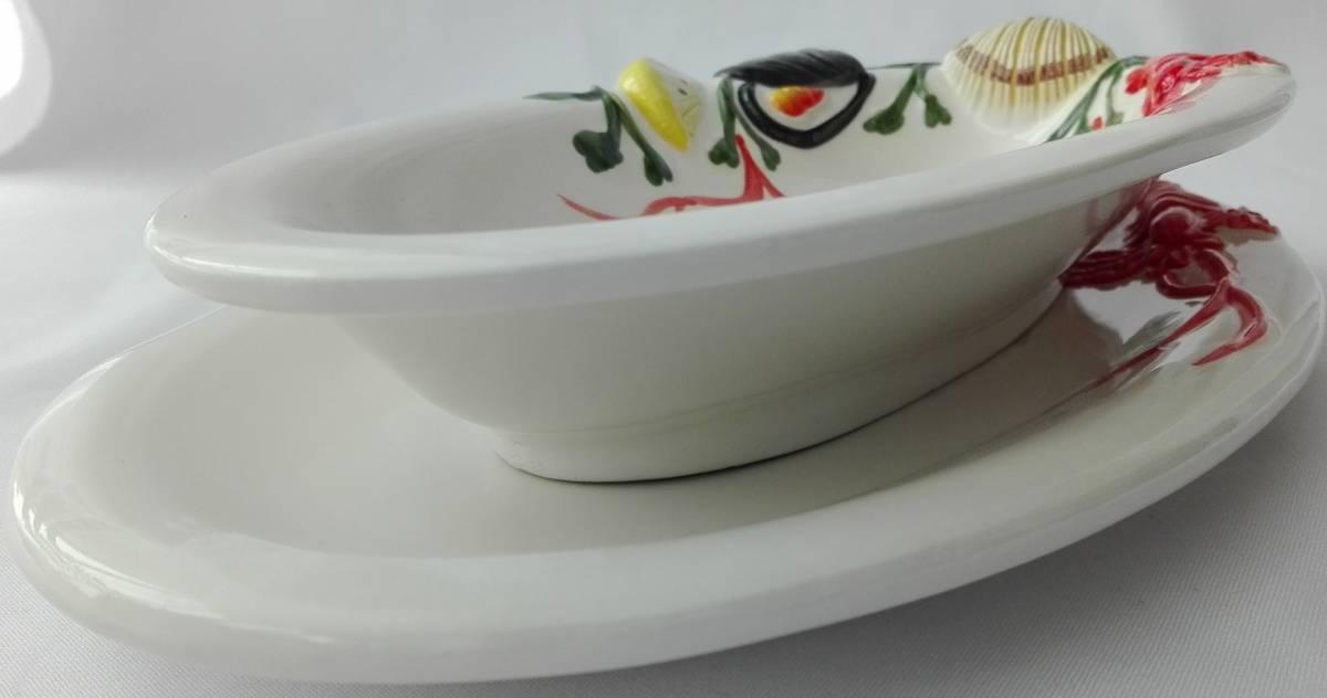 Set hlboký a plytký tanier BR oválny