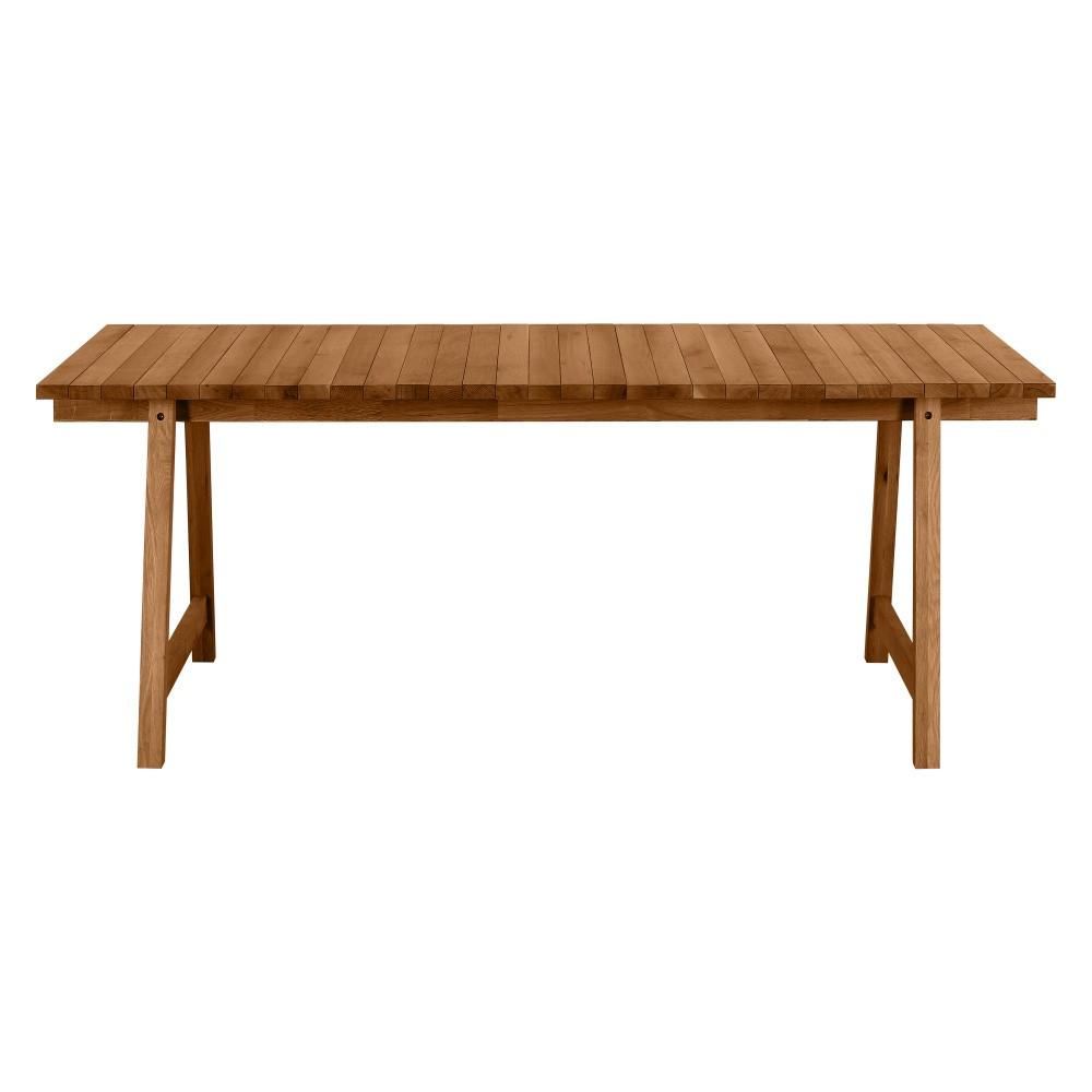 Jedálenský stôl z masívneho dubového dreva Artemob Beams, 198×75 cm