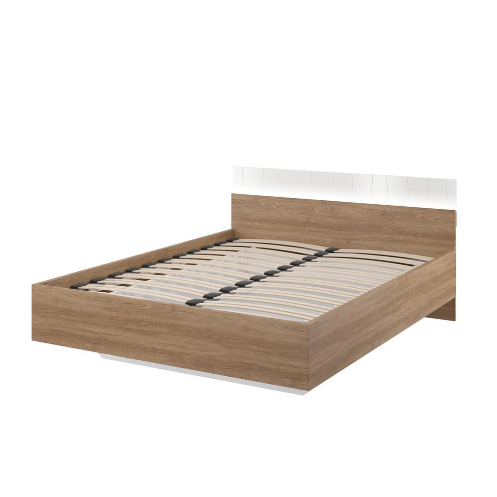 Dvojložková posteľ v dekore orecha Szynaka-Meble Zefir