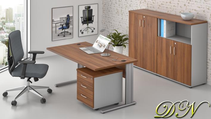 Rauman Zostava kancelárskeho nábytku Visio 1.6, orech / sivá ZEP 1.6 19