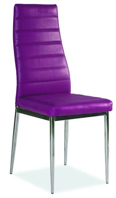 Jedálenská stolička VERME, fialová/chróm
