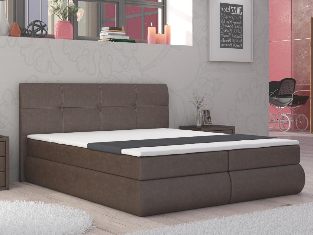 Manželská posteľ Boxspring 160 cm Peoria (s matracmi)