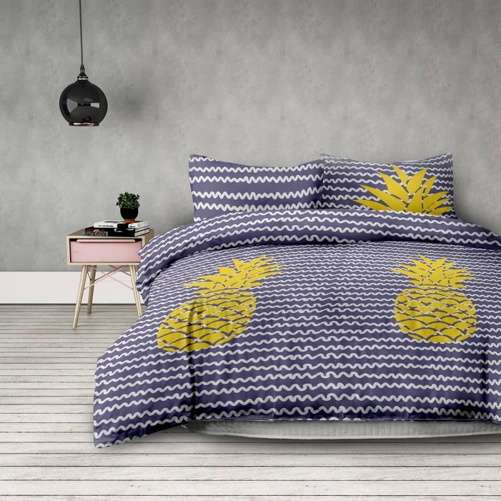 DecoKing Obliečky Pineapple, 140 x 200 cm, 70 x 90 cm