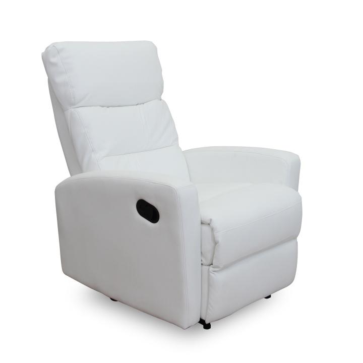 Relaxačné kreslo Silas (biela)