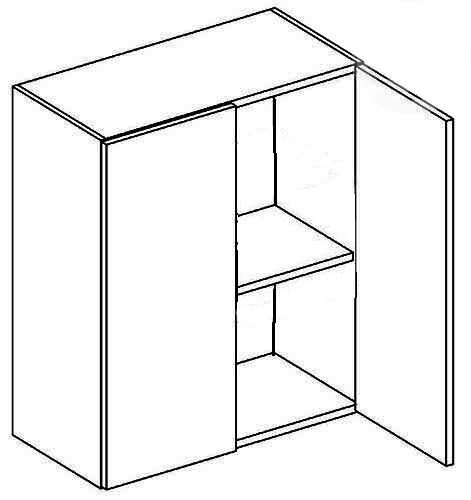 >> W60 horná skrinka dvojdverová, vhodná ku kuchyni PREMIUM