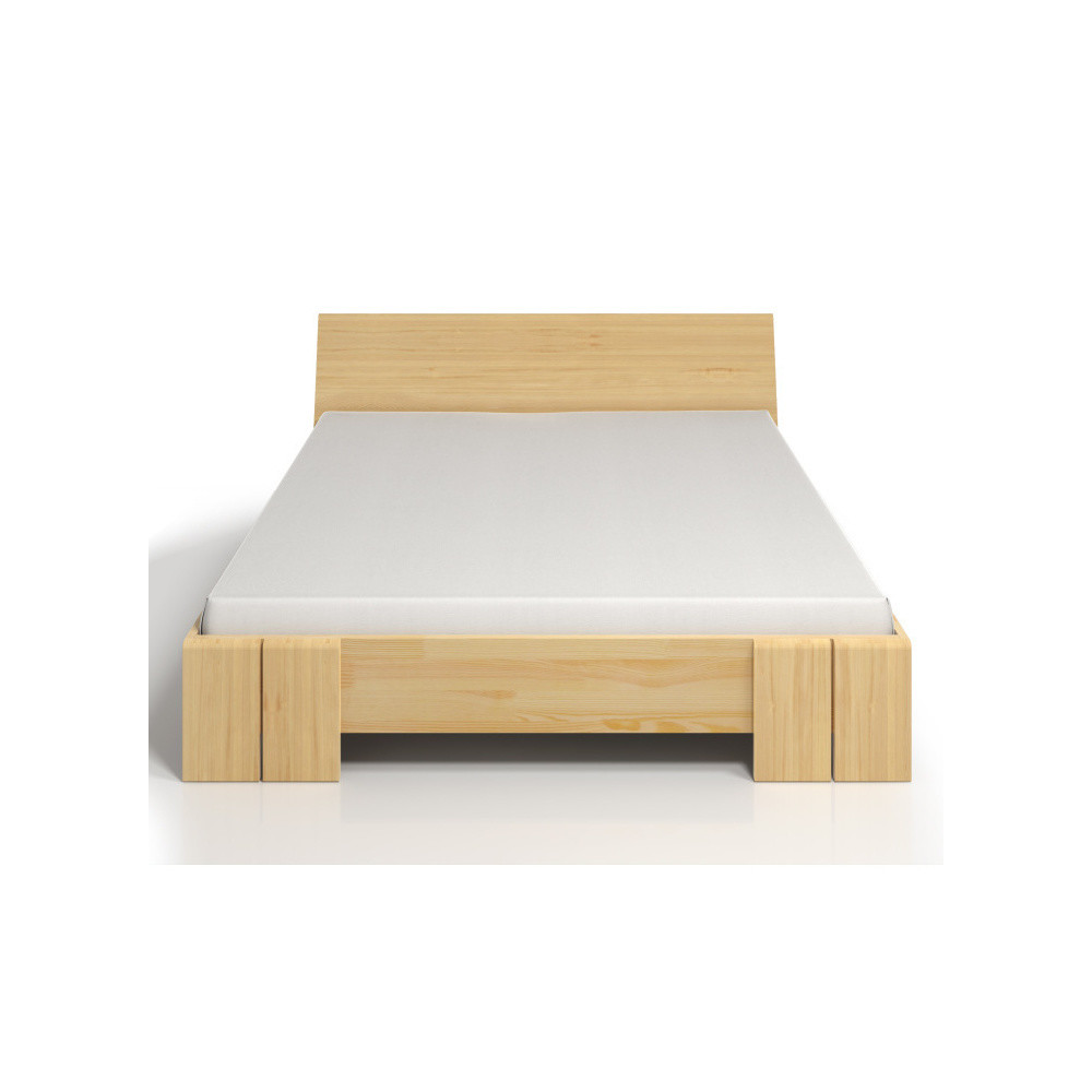 Dvojlôžková posteľ z borovicového dreva s úložným priestorom SKANDICA Vestre Maxi, 180x200cm