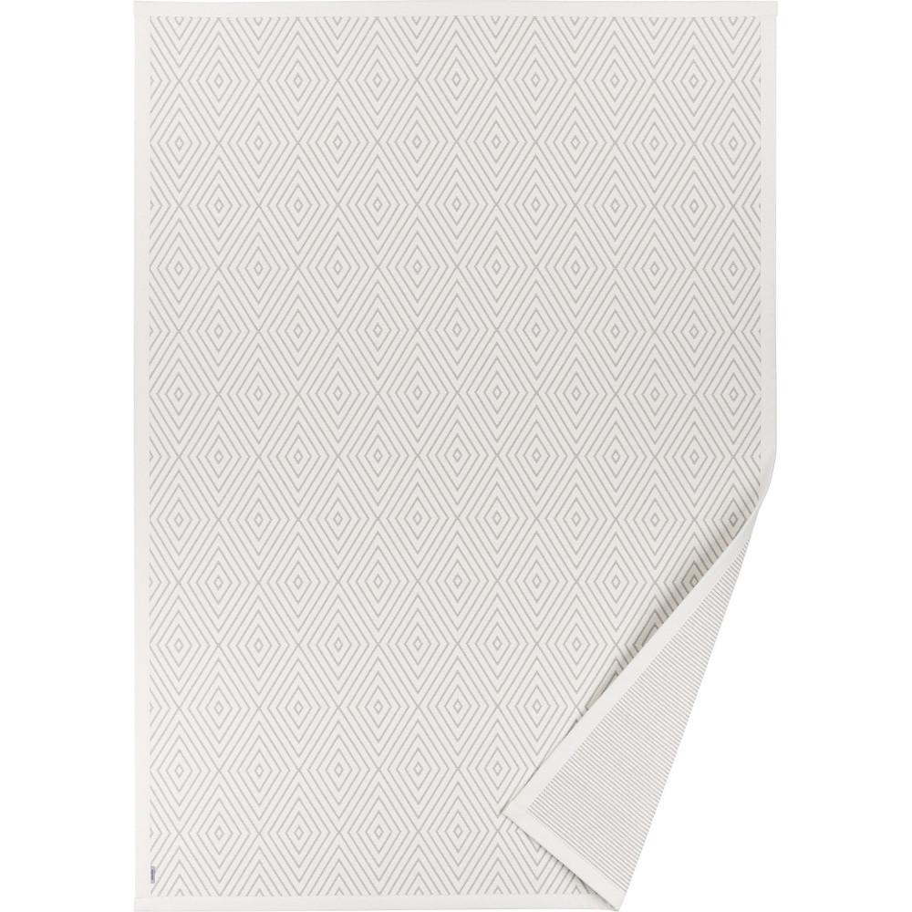 Biely vzorovaný obojstranný koberec Narma Kalana, 70x140cm