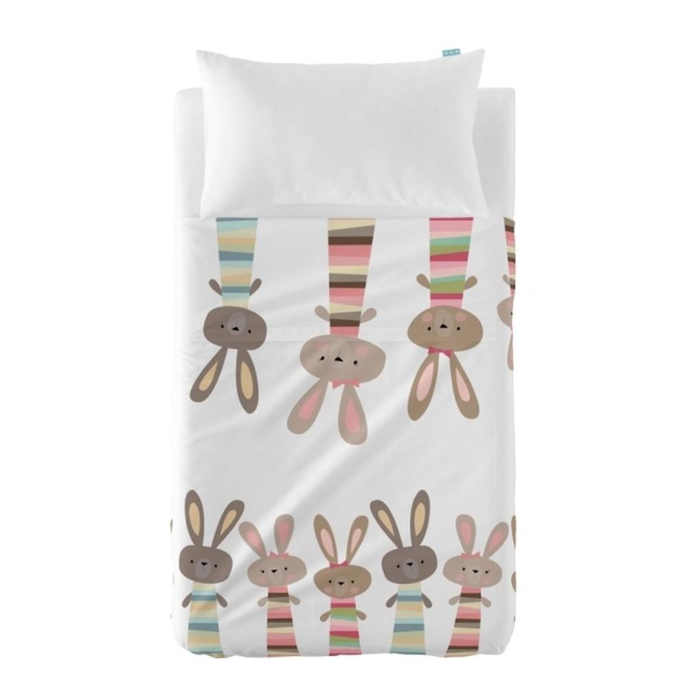 Set plachty a obliečky na vankúš Little W Rabbit, 100×130cm
