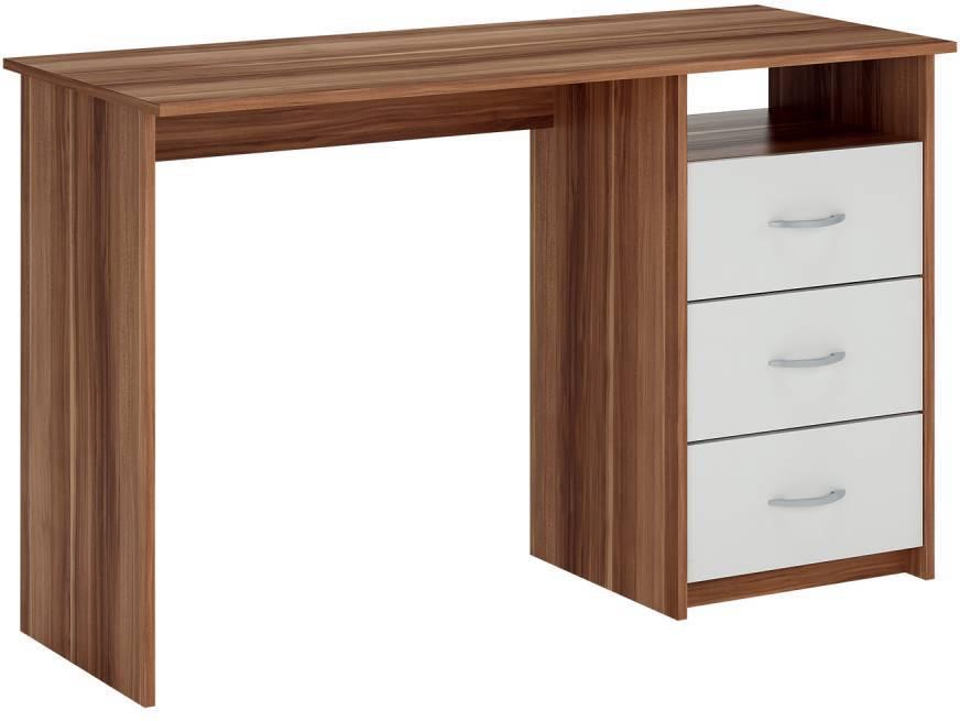 Písací stôl orech/biela