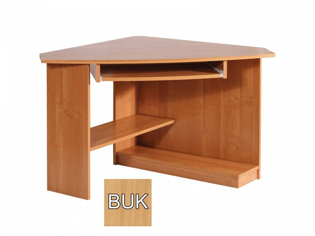 Rohový PC stolík Caren (L) (buk) *výpredaj