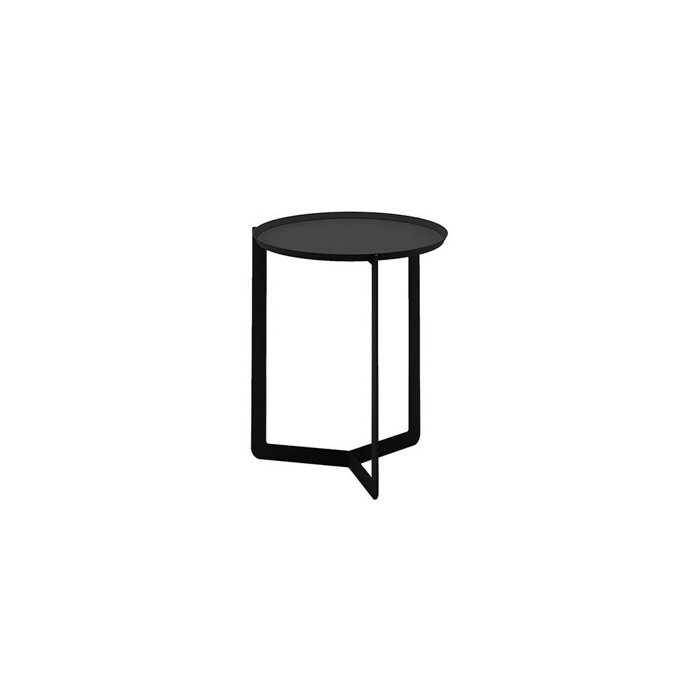 Čierny príručný stolík MEME Design Round