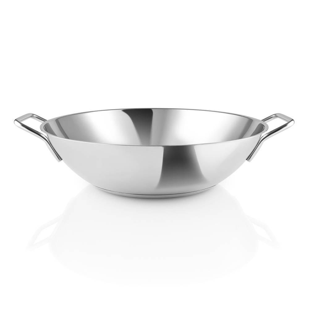 Panvica wok z nehrdzavejúcej ocele Ø 32 cm