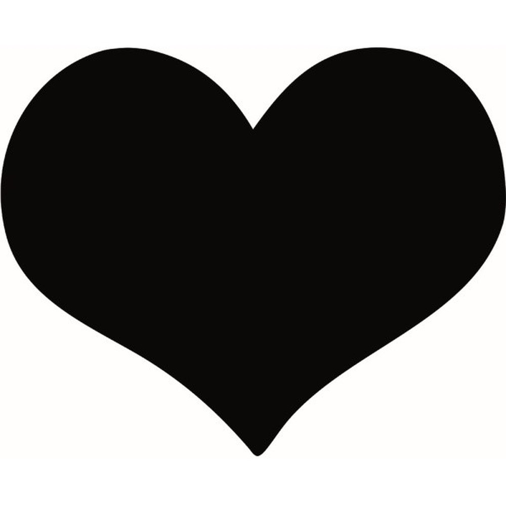 Set popisovacej tabule a kriedového popisovača Securit Silhouette Heart, 30 x 36 cm