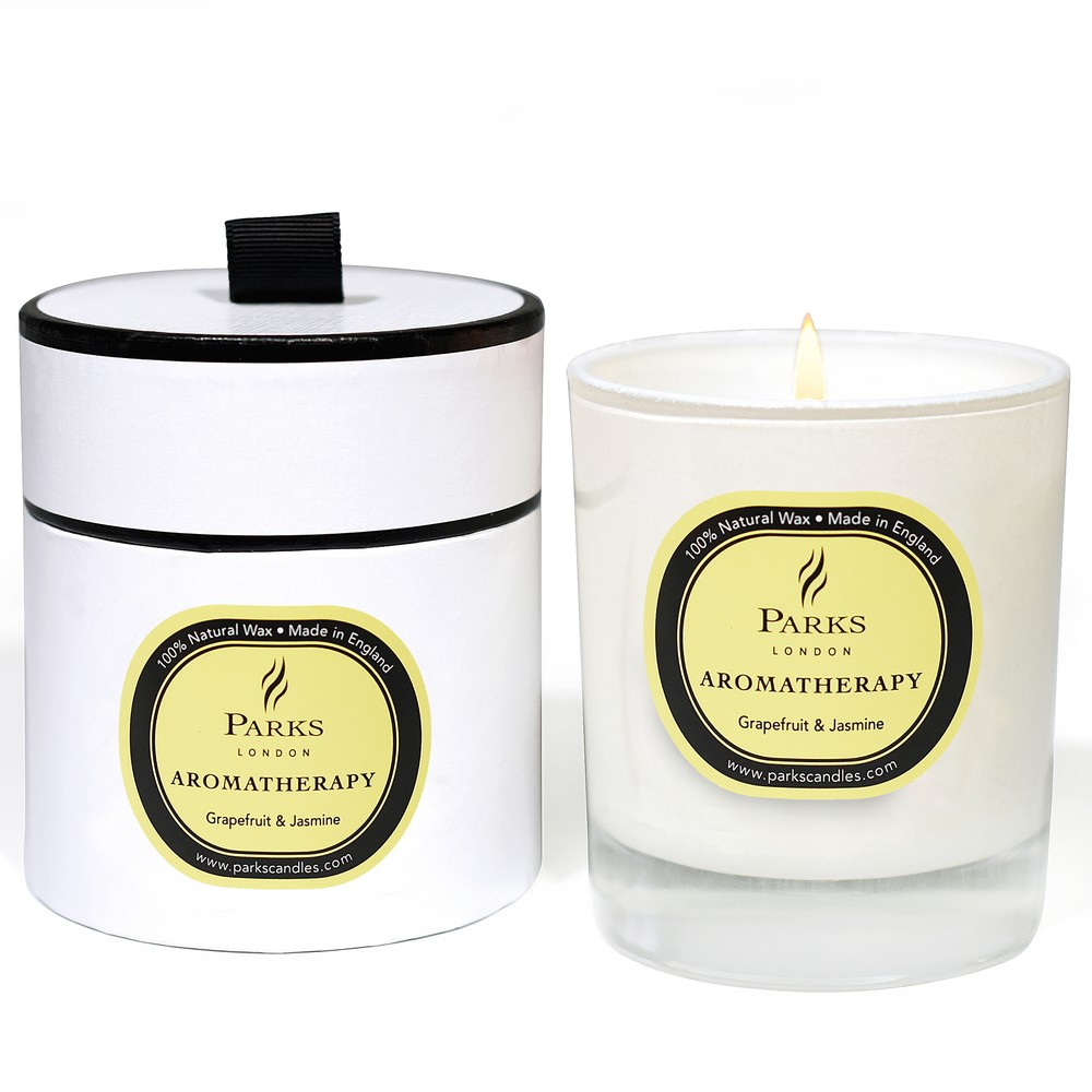 Sviečka s vôňou grapefruitu a jazmínu Parks Candles London Aromatherapy, 45 hodín horenia