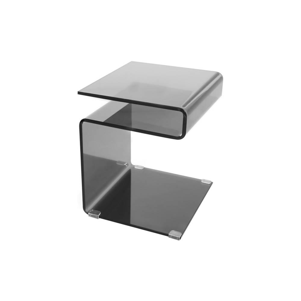 Odkladací stolík čierne sklo