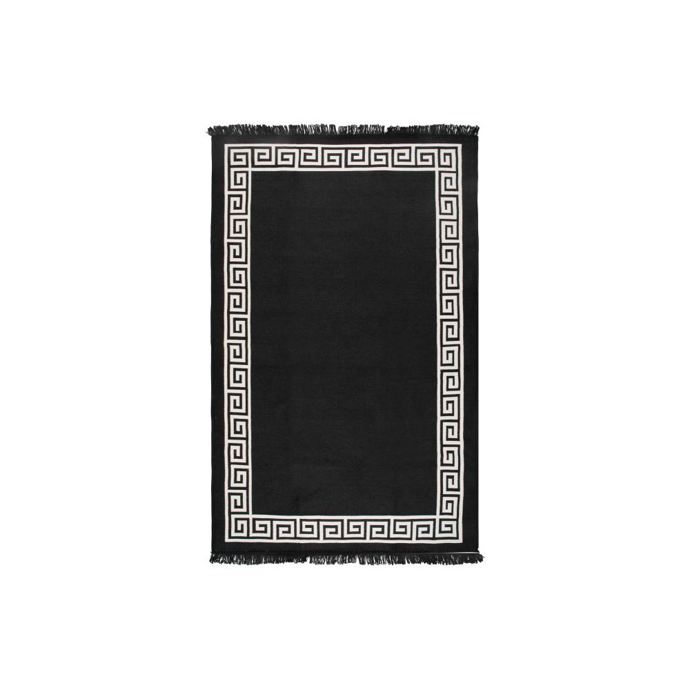 Obojstranný béžovo-čierny koberec Home De Bleu Justed, 80 x 150 cm
