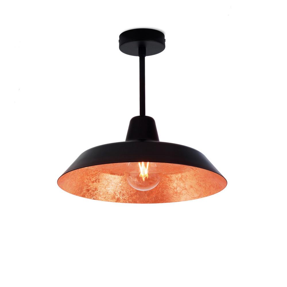 Čierno-medené stropné svietidlo Bulb Attack Cinco Basic