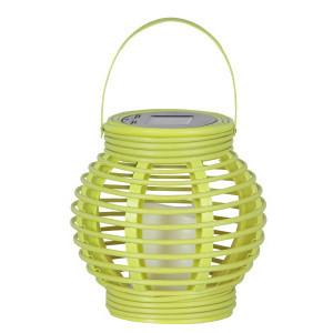 Zelený LED solárny lampáš Best Season Home