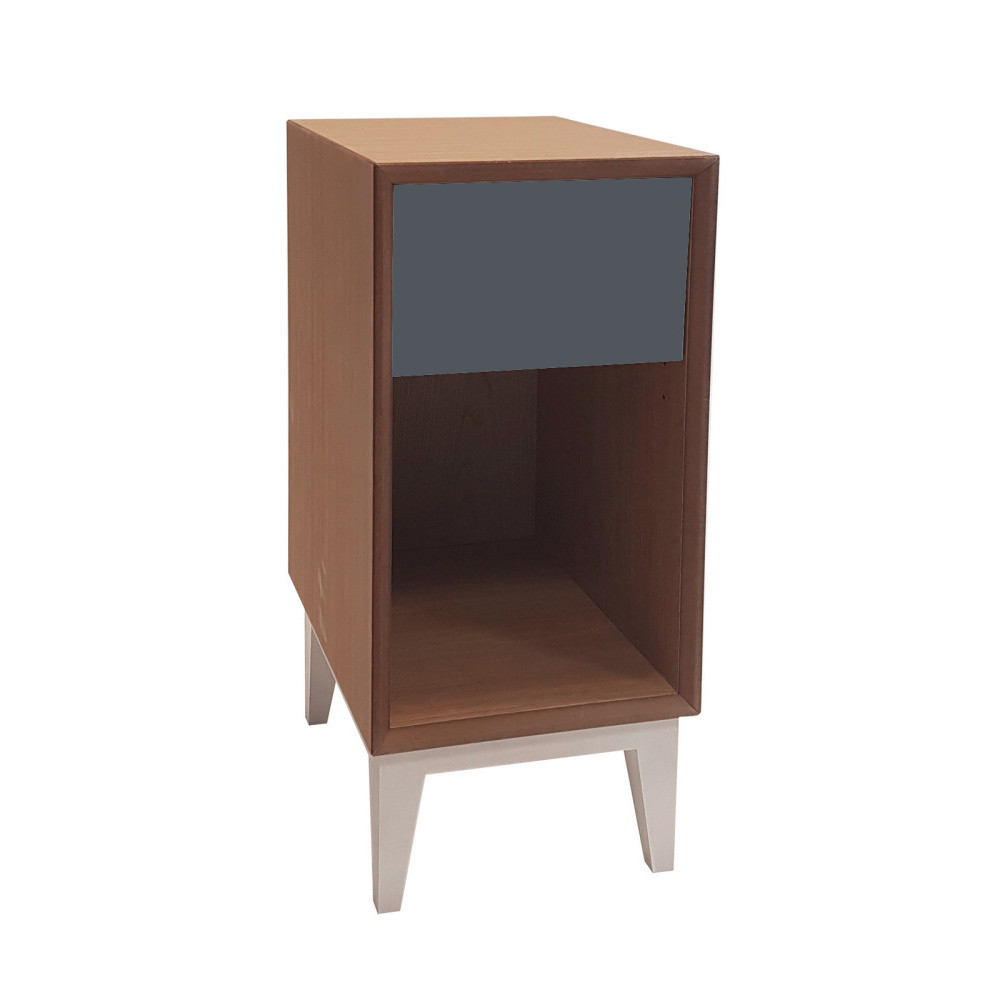 Malý nočný stolík s grafitovou zásuvkou Ragaba PIX