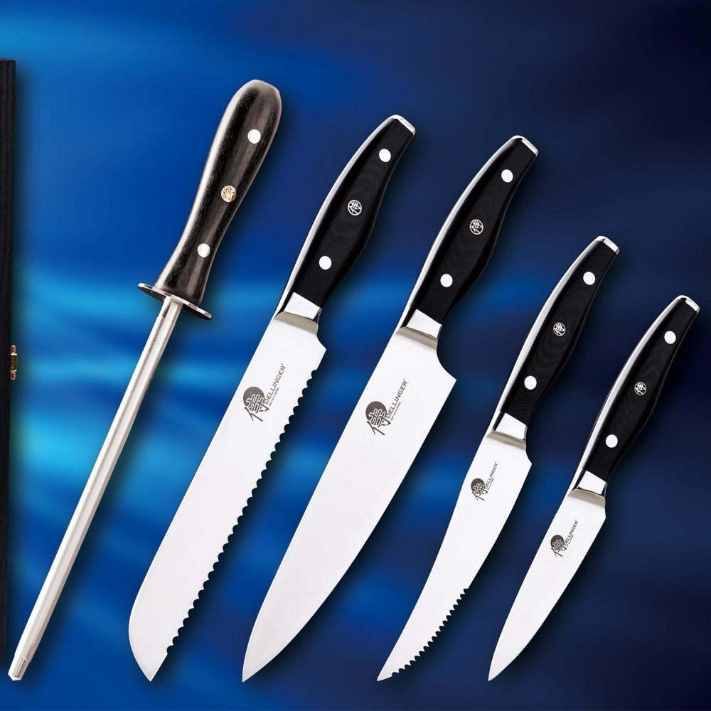Sada nožov s ocieľkou Easy Dellinger 5 ks