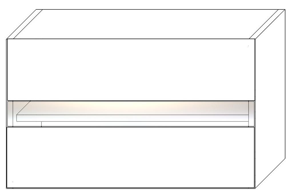 FRED horná vitrínová skrinka WS80OKGR