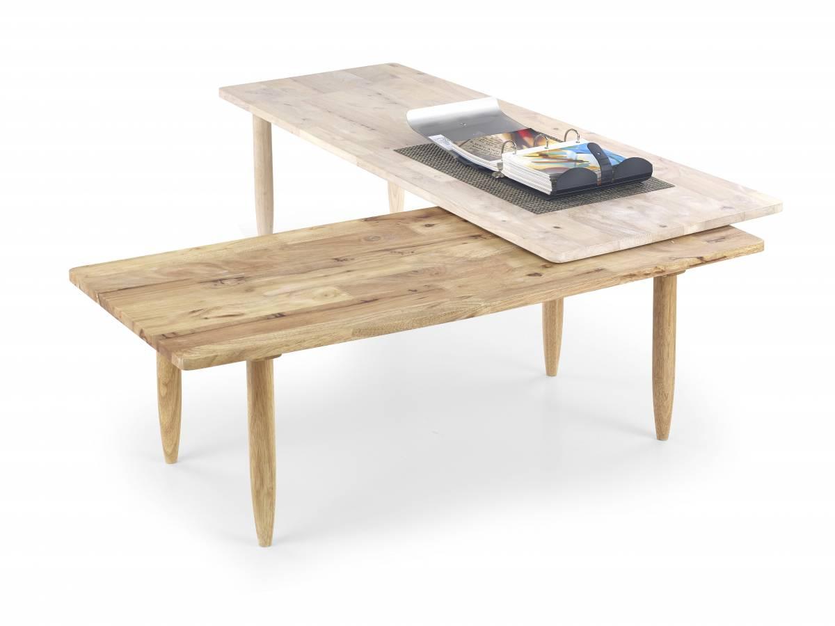 Konferenčný stolík Bora-Bora (white washed wood)