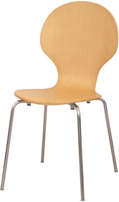 Stolička, drevo prírodná/chróm, MAUI NEW