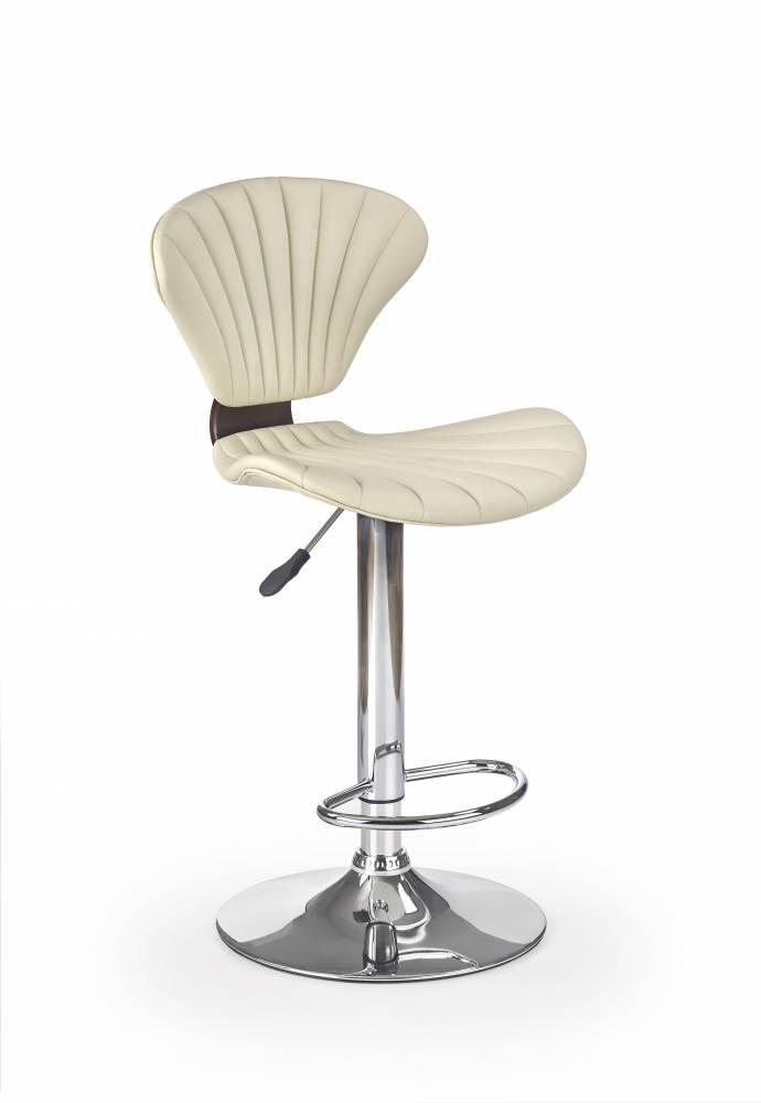 Barová stolička H-65 (krémová + čerešňa)