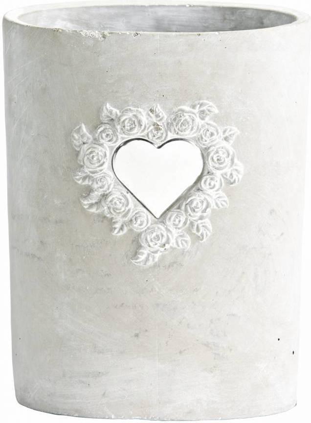 Kvetináč ETAMIN biela