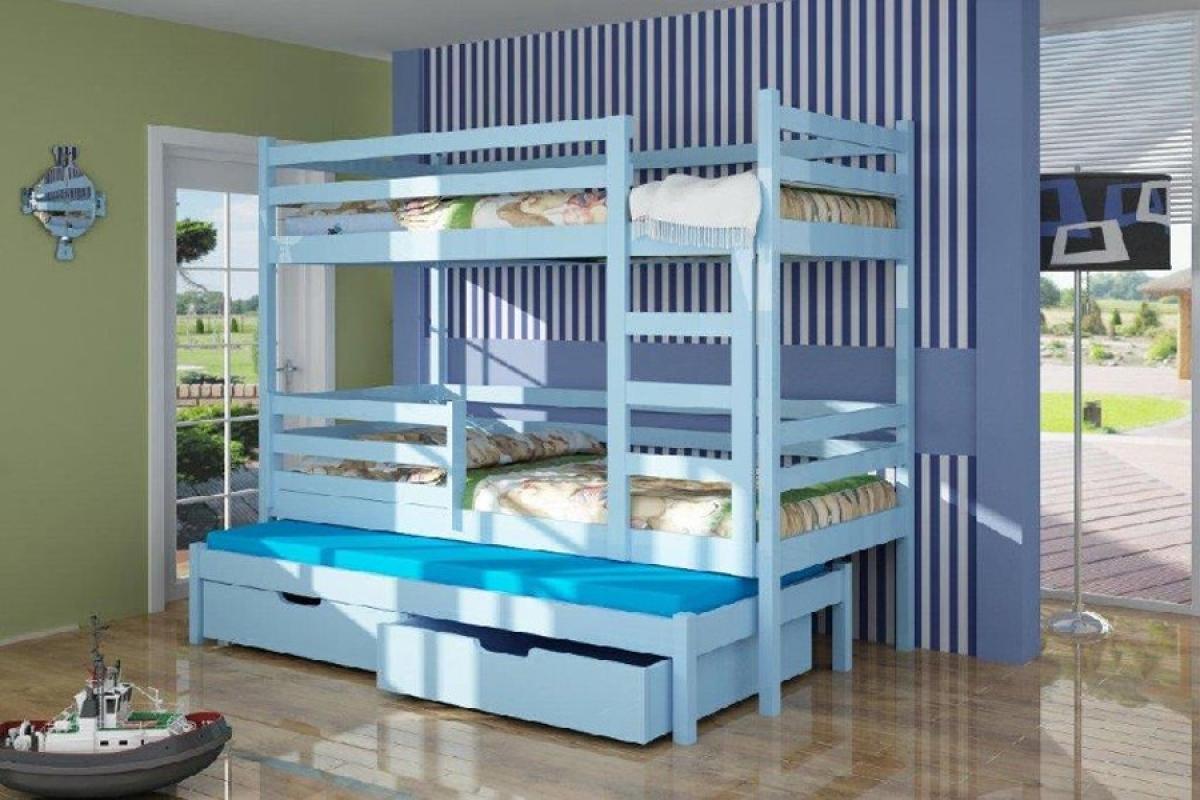 Nabytok-Bogart Poschodová posteľ kamil 80 x 190 grafit + biela - posledný kus