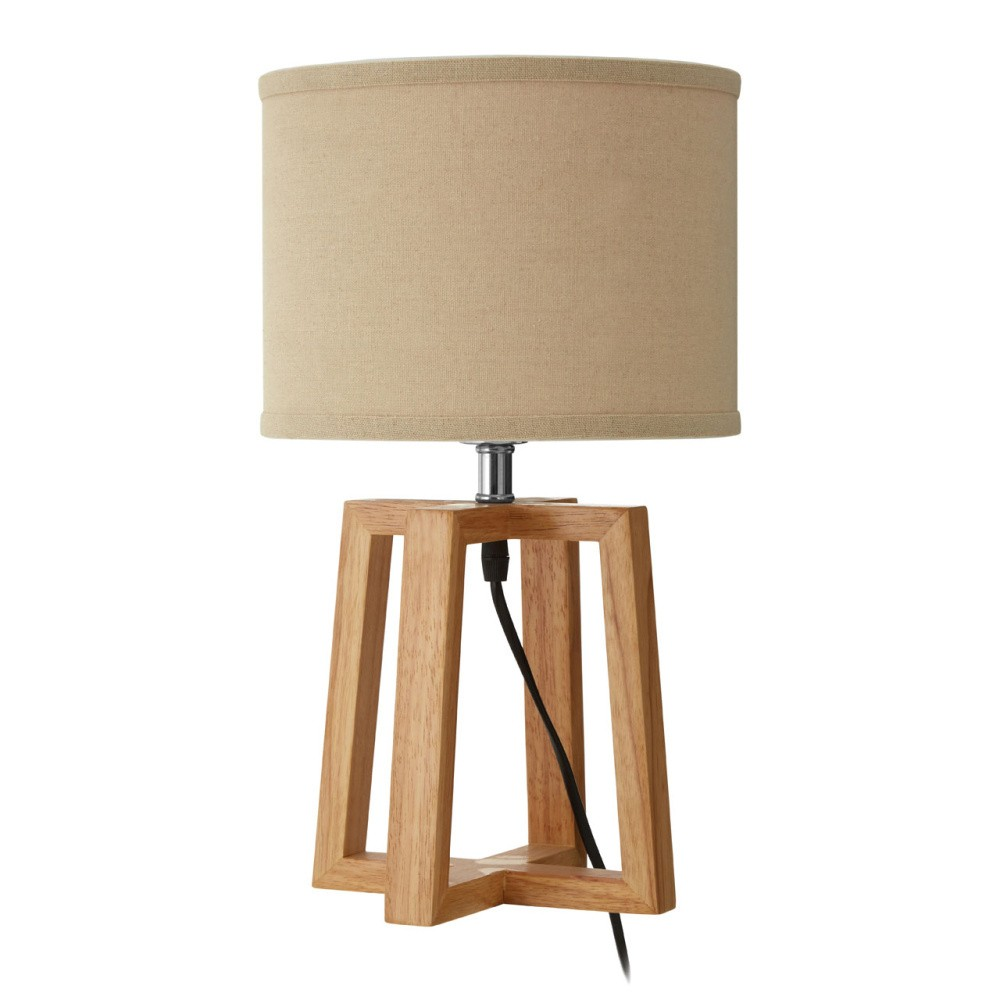Stolová lampa so základňou z gumovníkového dreva Premier Housewares Lea