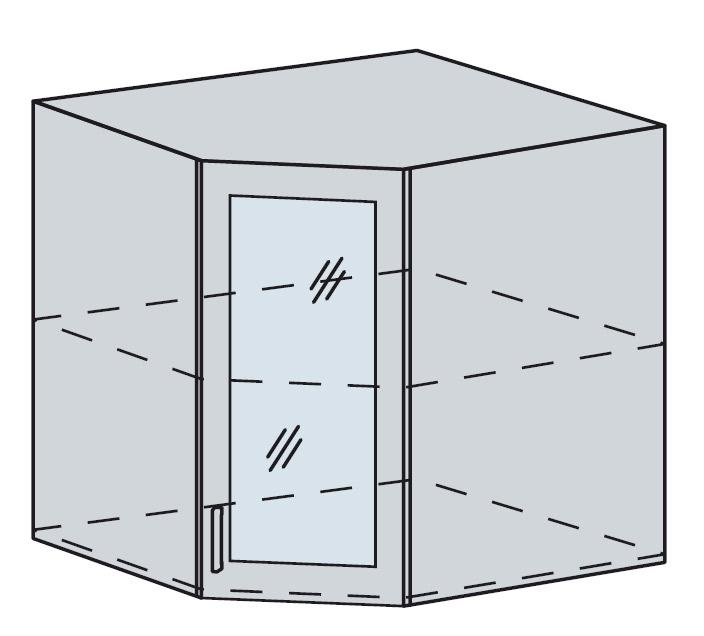 PROVENSAL horná rohová vitrína 60HRS šedá
