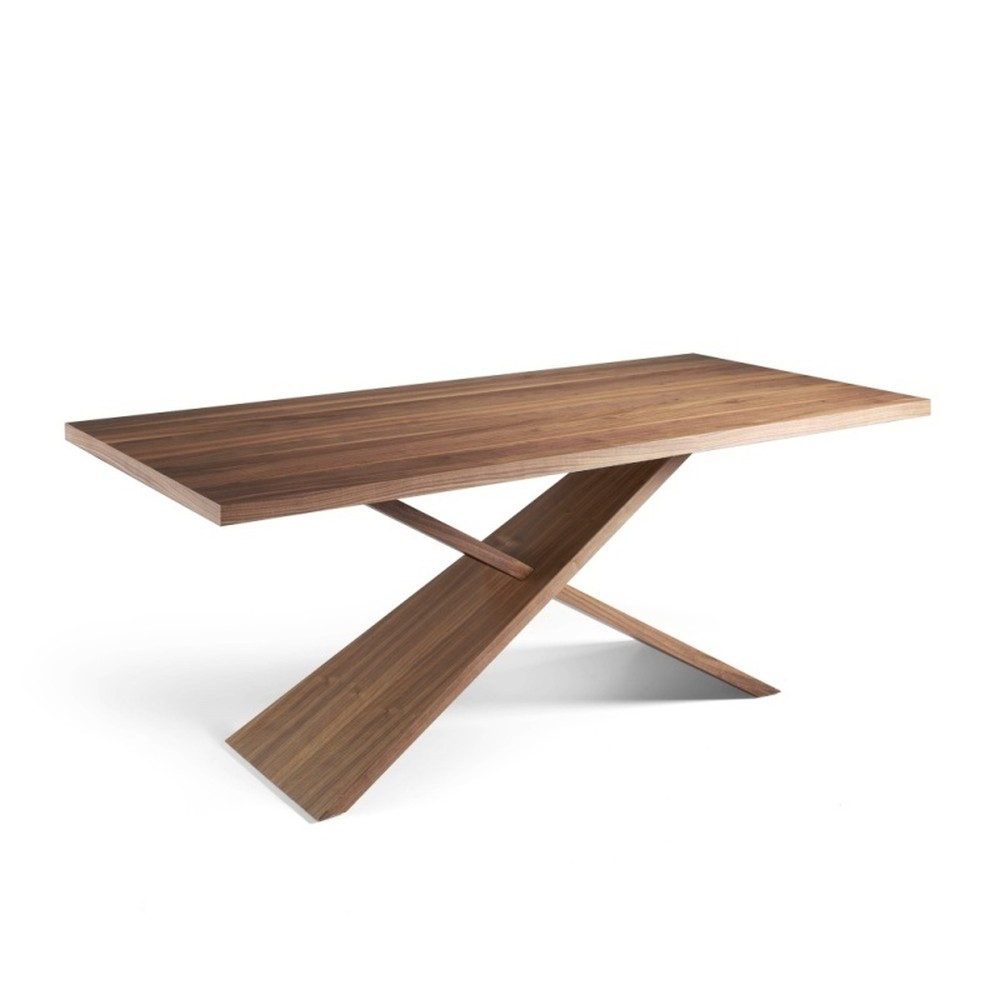Masívny jedálenský stôl z orechového dreva Ángel Cerdá Cayo