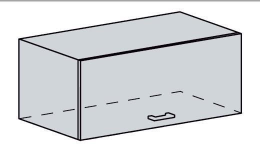 GRÉCKO horný výklop 60VP, biely metalic
