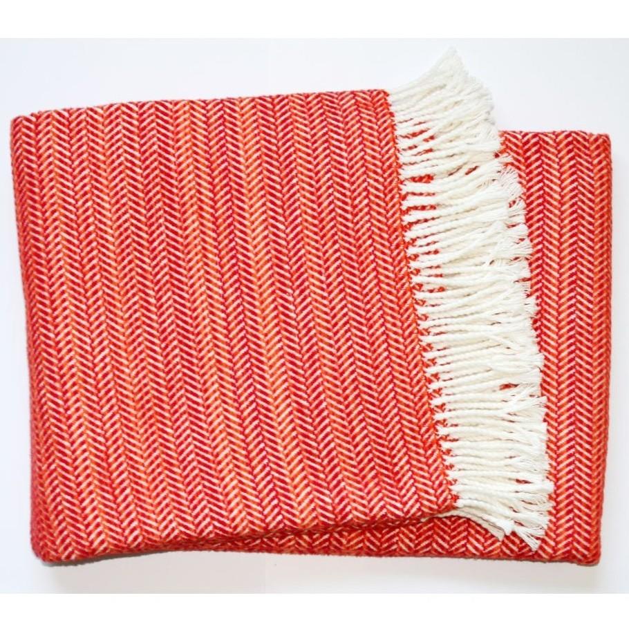 Červená deka Euromant Toscana, 140x180 cm