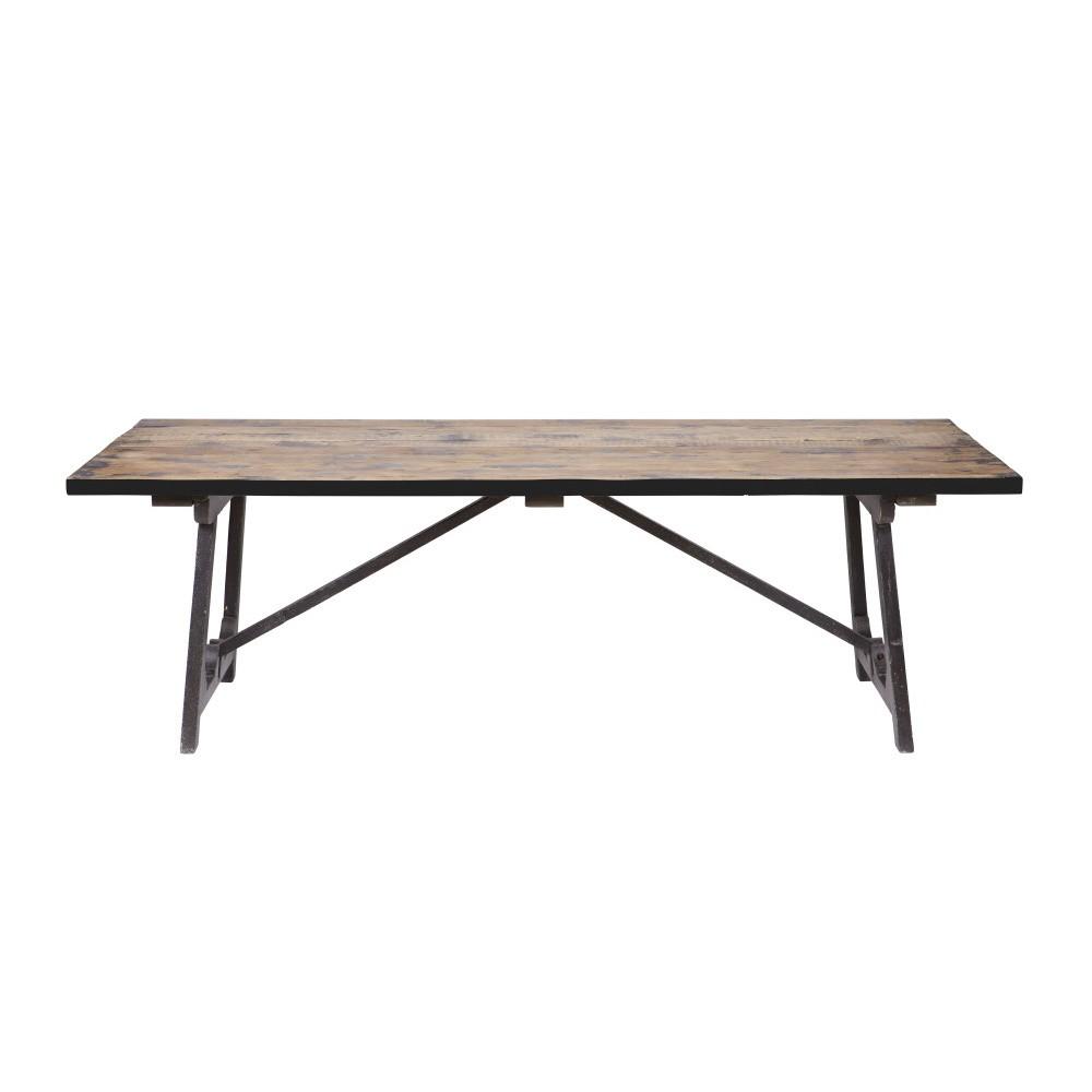Jedálenský stôl z masívneho borovicového dreva De Eekhoorn Craft, 220 × 90 cm