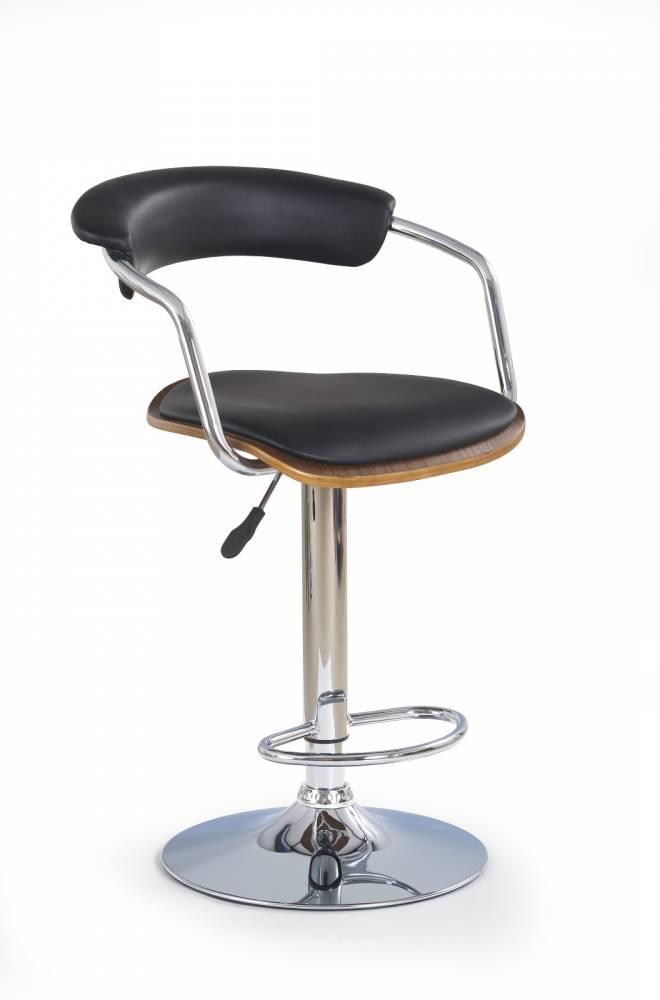 Barová stolička H-19 Orech Čierna
